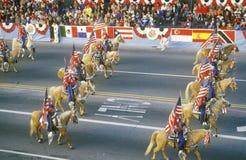 Pferde in Rose Bowl Parade, Pasadena, Kalifornien Lizenzfreie Stockfotografie