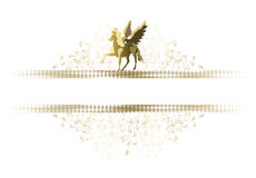 Pferde und Flügel Stockfoto