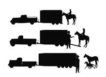 Pferdeanhänger lizenzfreie stockfotografie