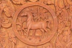 Pferdechinesisches Tierkreis-Tierzeichen Stockfotos