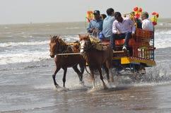 Pferdefahrten Lizenzfreie Stockfotos