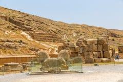 Pferdeköpfe Persepolis Stockbild
