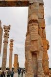 Pferdekopfstatuen Persepolis war die zeremonielle Hauptstadt des Achaemenid-Reiches Lizenzfreies Stockbild
