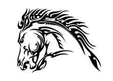 Pferdekopfvektorillustration lizenzfreie abbildung