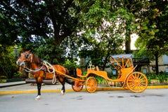 Pferdekutsche vor Intramuros, Manila, Philippinen lizenzfreie stockbilder