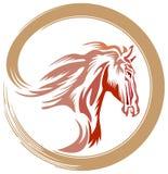 Pferdelogo Stockfotografie