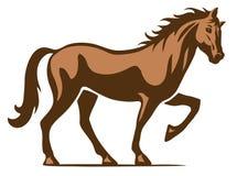 Pferdelogoillustration stockbild