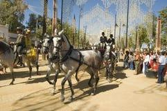 Pferden-Messe in Jerez, Cadiz Spanien Stockbilder