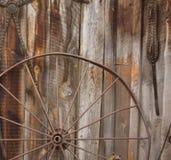 Pferden-Wagen-Rad stockbild