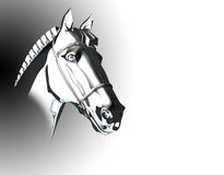 Pferdenkopf-Skulptursilber Lizenzfreie Stockfotografie