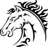 Pferdenkopftätowierung Stockfoto