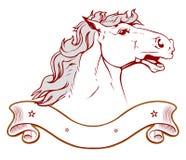 Pferdenranchemblem in der Leuchte Lizenzfreies Stockfoto