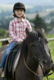 Pferdenreiten Stockfoto