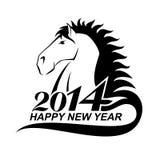Pferdeprofil ist- ein Symbol von 2014 Stockfotos