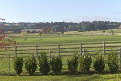 Pferderanch und Land lebendes ländliches Oregon Stockfoto