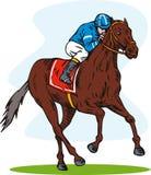 Pferderennen lizenzfreie abbildung