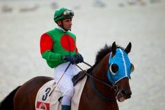 Pferderennen auf Sanlucar von Barrameda, Spanien, im August 2010 Lizenzfreies Stockfoto