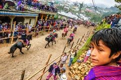 Pferderennen der Allerheiligen, TODOS Santos Cuchumatan, Guatemala Stockfoto