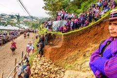 Pferderennen der Allerheiligen, TODOS Santos Cuchumatan, Guatemala Lizenzfreies Stockbild