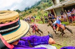Pferderennen der Allerheiligen, TODOS Santos Cuchumatan, Guatemala Lizenzfreie Stockfotografie