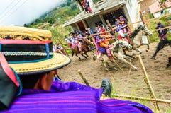 Pferderennen der Allerheiligen, TODOS Santos Cuchumatan, Guatemala Lizenzfreies Stockfoto