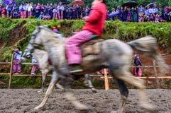 Pferderennen der Allerheiligen, TODOS Santos Cuchumatan, Guatemala Stockbilder