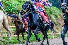 Pferderennen der Allerheiligen, TODOS Santos Cuchumatan, Guatemala Stockfotografie