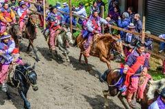Pferderennen der Allerheiligen, TODOS Santos, Guatemala Stockbilder