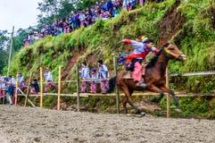 Pferderennen der Allerheiligen, TODOS Santos, Guatemala Lizenzfreie Stockbilder