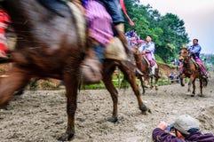 Pferderennen der Allerheiligen, TODOS Santos, Guatemala Stockfoto