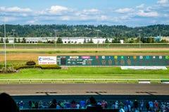 Pferderennenbahn Emerald Downs Stockfotografie