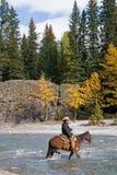 Pferderuecken-Mitfahrer Lizenzfreies Stockfoto