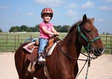 Pferderuecken-Reiten Stockbilder