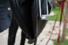 Pferdesattel-Detail Sommer Stockbilder