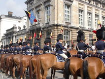 Pferdeschutz auf Parade Lizenzfreies Stockbild