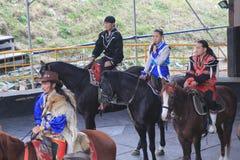 Pferdeshowereignis in Taiwan Stockfotos