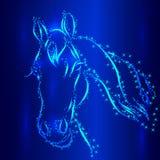Pferdeskizzen-Vektor-Gruß-Karte lizenzfreie abbildung