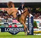 Pferdespringender Wettbewerb Stockbilder