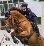 Pferdespringender Wettbewerb Lizenzfreies Stockbild