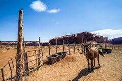 Pferdestall am Monument-Tal, Utah lizenzfreie stockbilder