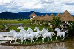 Pferdestatue Lizenzfreies Stockfoto