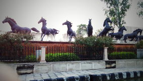 Pferdestatue stockfotografie