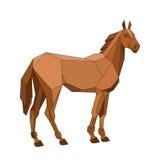 Pferdevektorgeometrischer stil Stockfotos