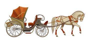 Pferdewagen lizenzfreie abbildung