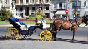 Pferdewagen-cc$mã ¡ Laga-Andalusienspanien Europa Stockbild