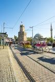 Pferdewagen Tekeli Mehmet Pasa Mosque Antalya V stockbild