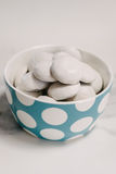 Pffernussen cookies in a blue dotty bowl Stock Photography