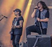 Pfil Campbell i Bękarci synowie żyje w koncercie 2017, ciężki metal Obraz Royalty Free