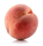 Pfirsich auf einem weißen Hintergrund Stockbilder