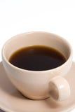 Pfirsich-Kaffeetasse voll Kaffee Lizenzfreie Stockfotografie